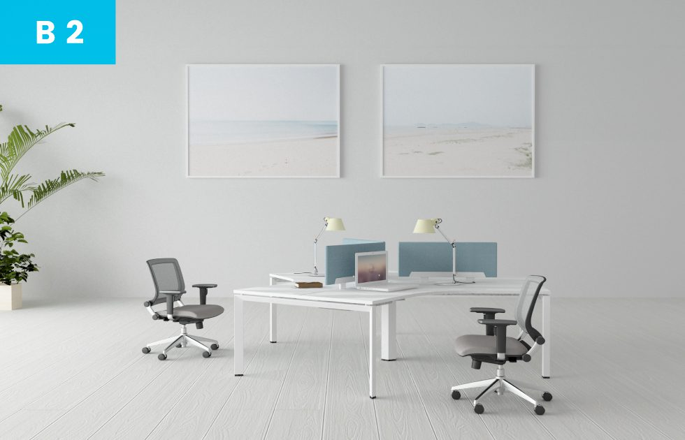 Bench style desks
