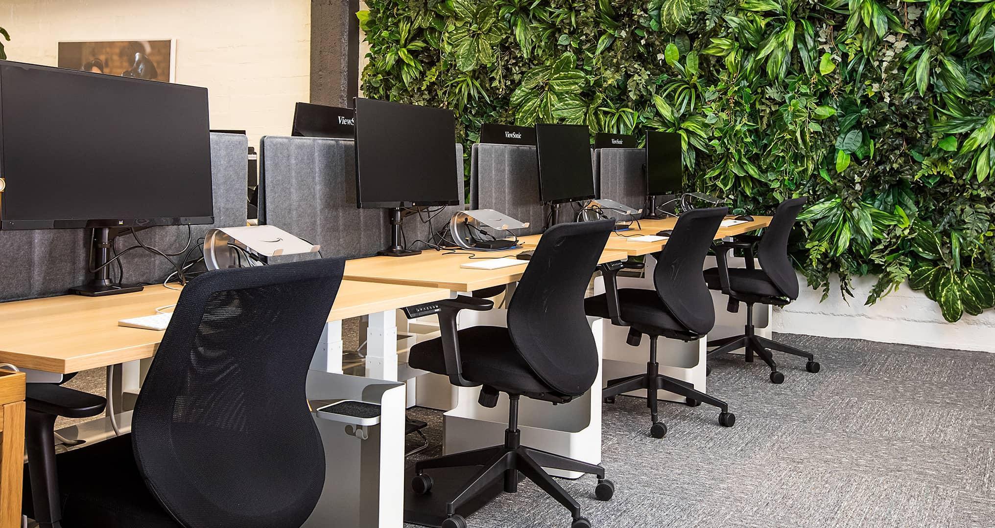 Office desks with ergonomic desk chairs