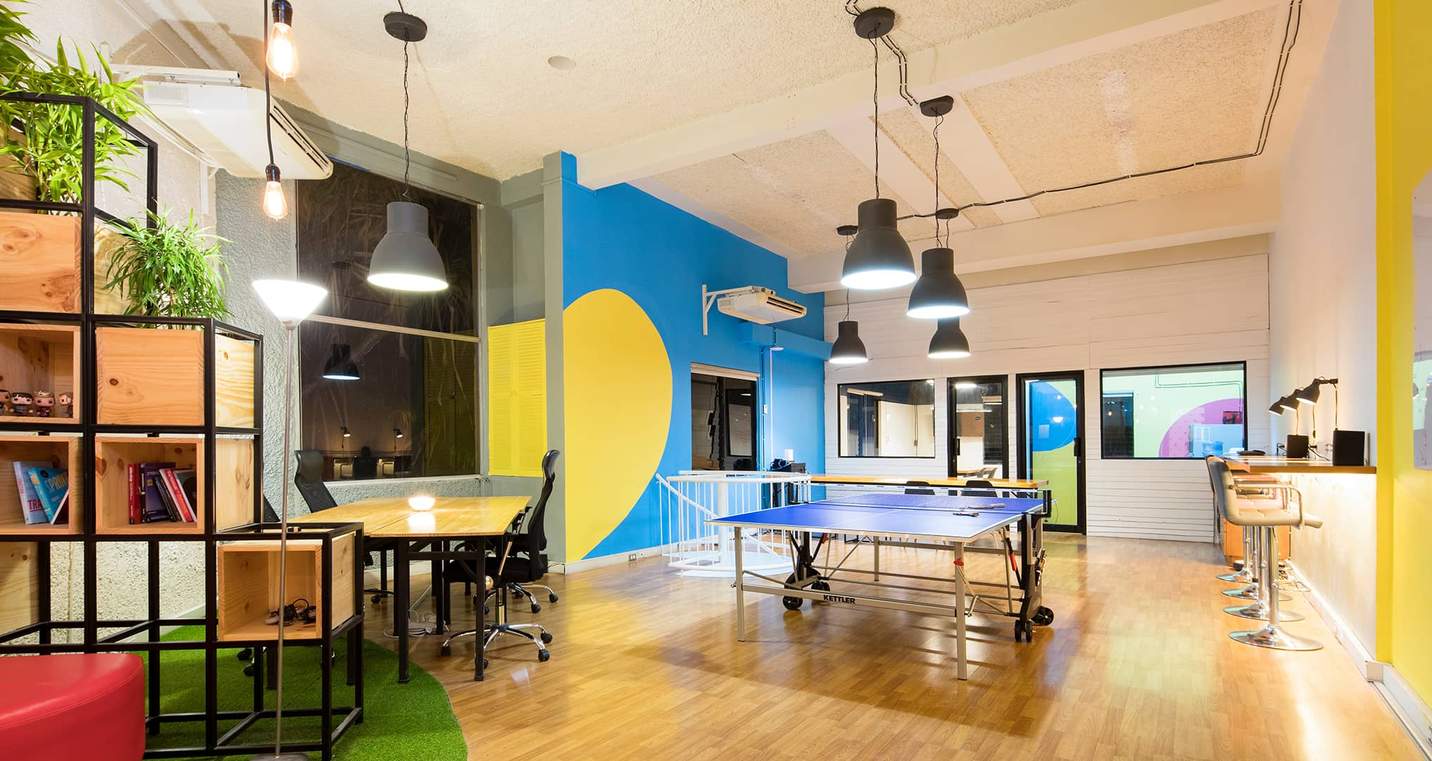 open office with a full personality