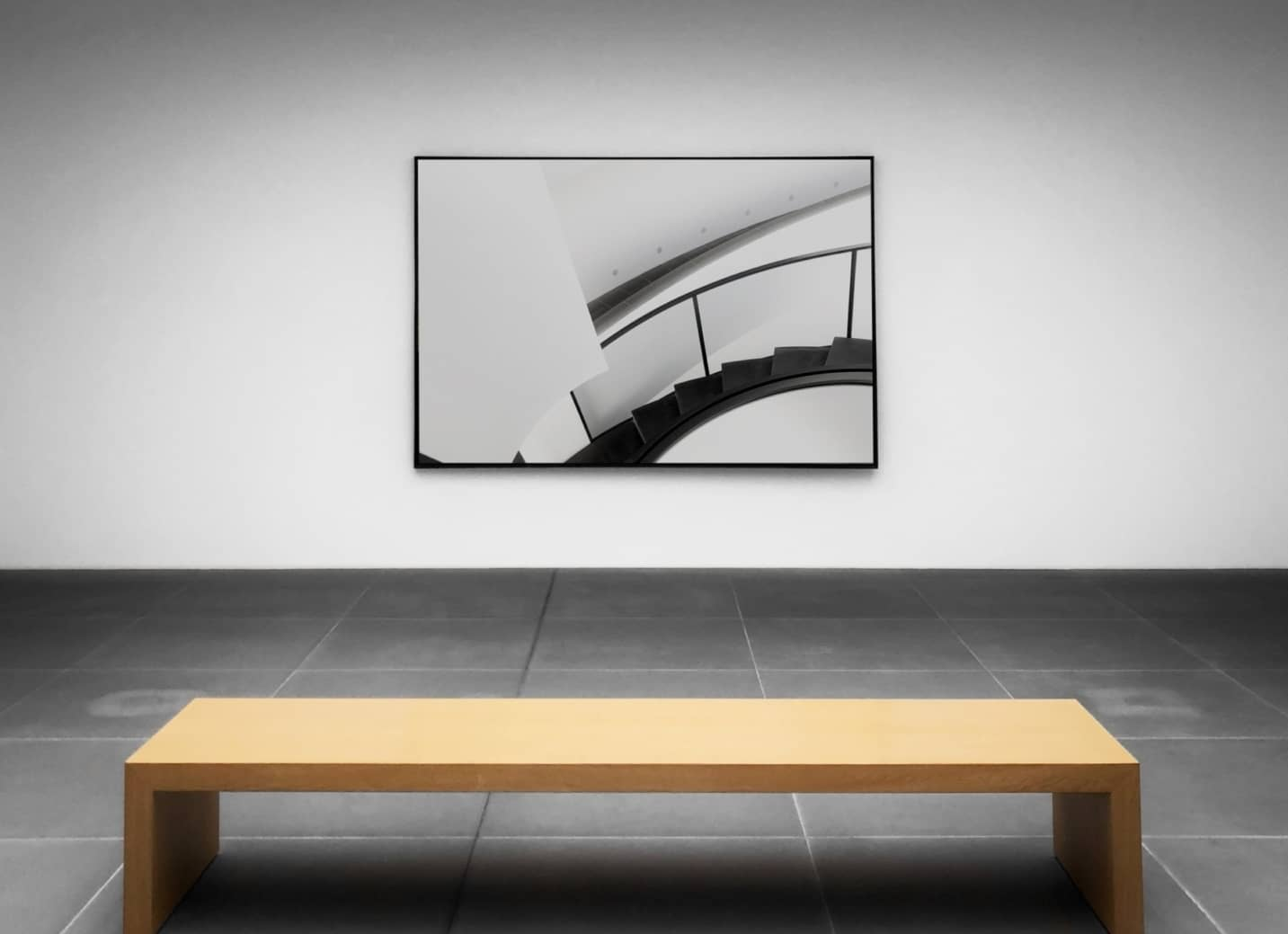 artwork in light colored empty room