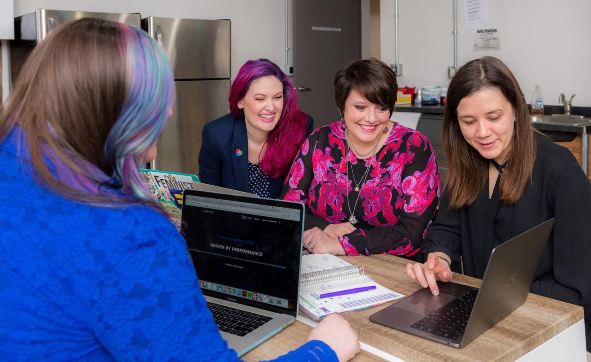 happy women in the workplace