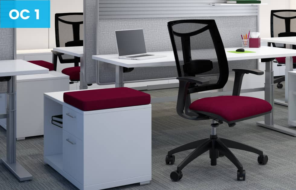 high back mesh office chairs with color accent
