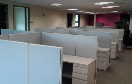 high walled cubicles