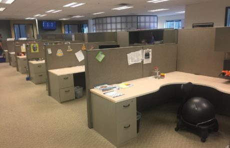 multiple cubicle spaces perfect for a small business