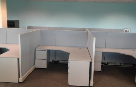 high walled office cubicle workstations