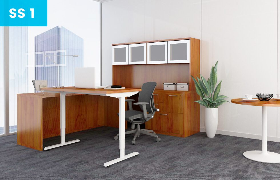 sit to stand desks for offices at iSpace Office