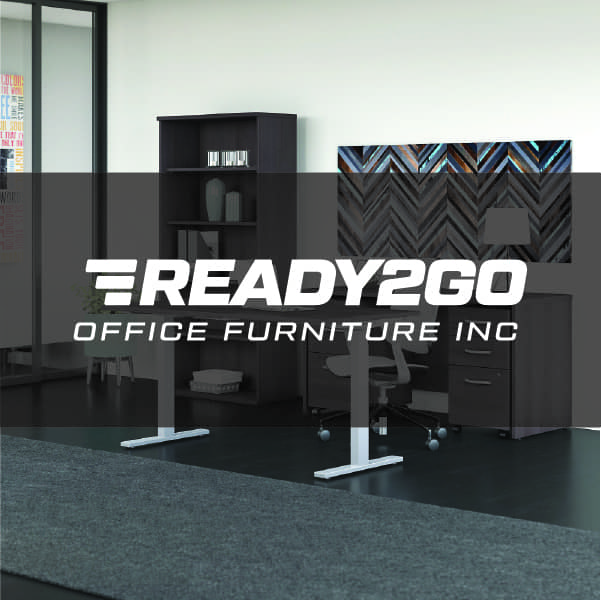 office interiors, workplace, Ready2Go logo