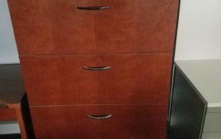 tall walnut file cabinet