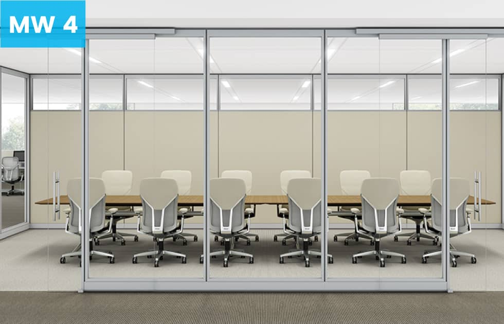 conference room in office made from moveable walls