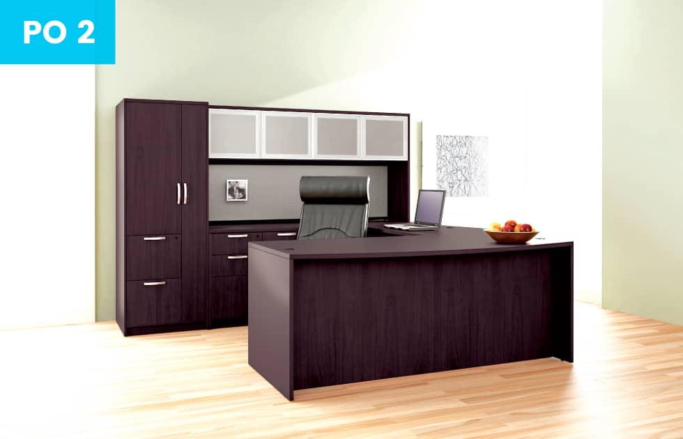 dark cherry office suite