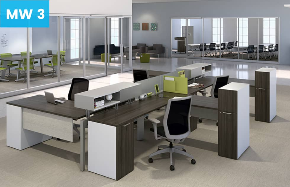 Office suite with moveable walls