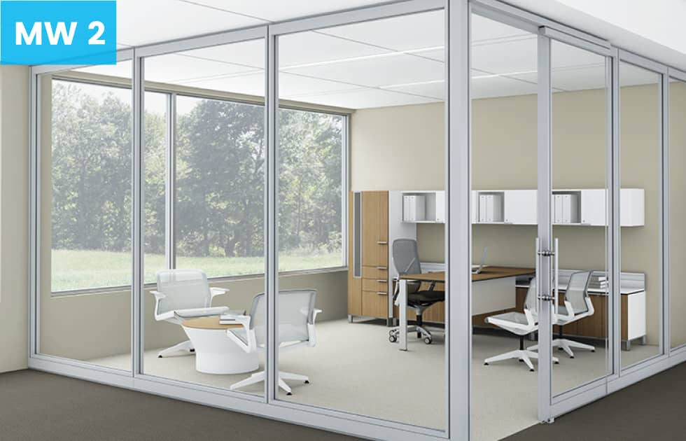 removable wall option for a private office setting