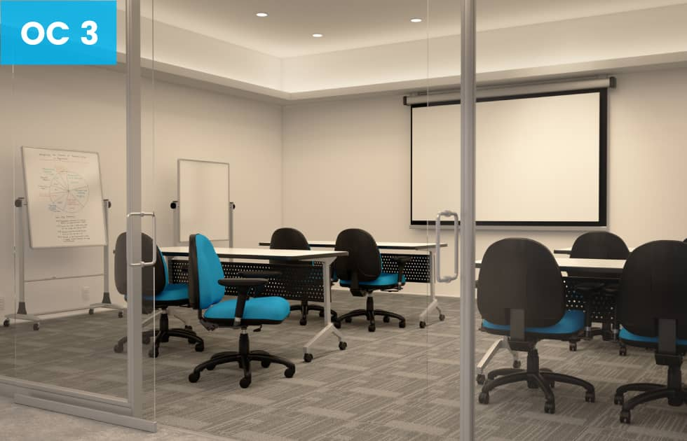 blue high back office chairs