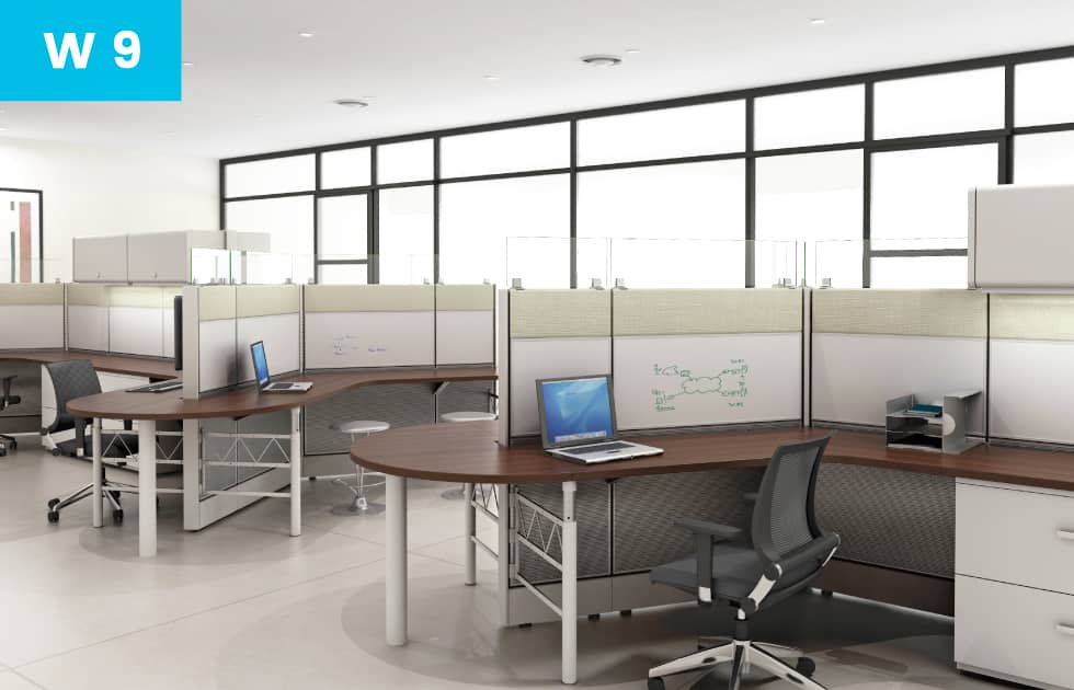comfortable office workstations
