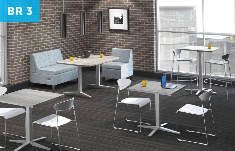contemporary office breakroom