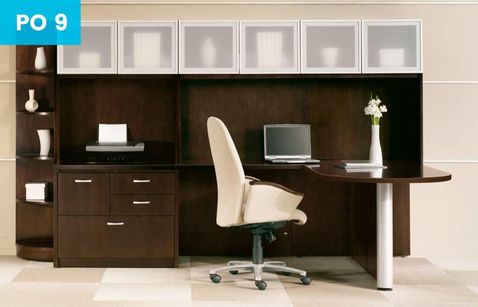 dark cherry office set