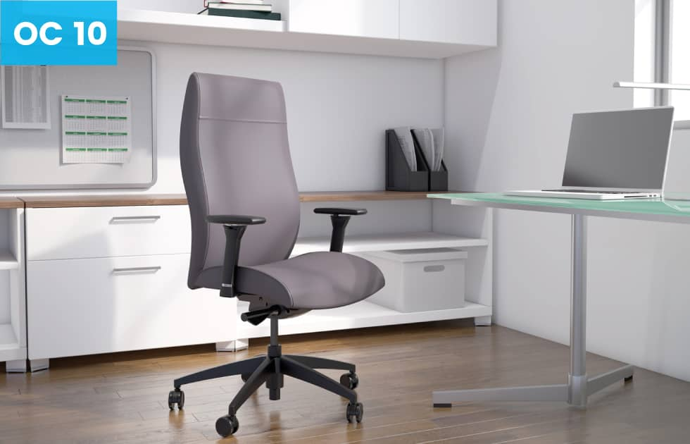 high back office chair in light purple