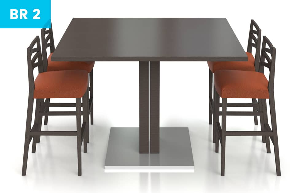 high top break room table with 4 chairs