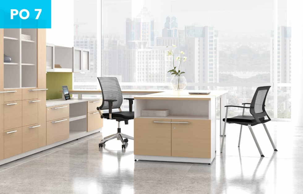 modern private office with plenty office storage