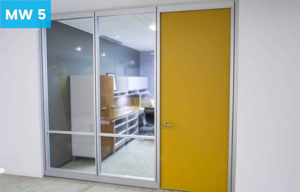 private office setting made with moveable walls