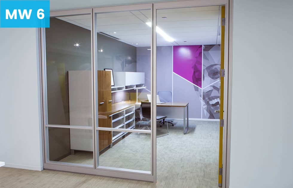 private office make from moveable walls